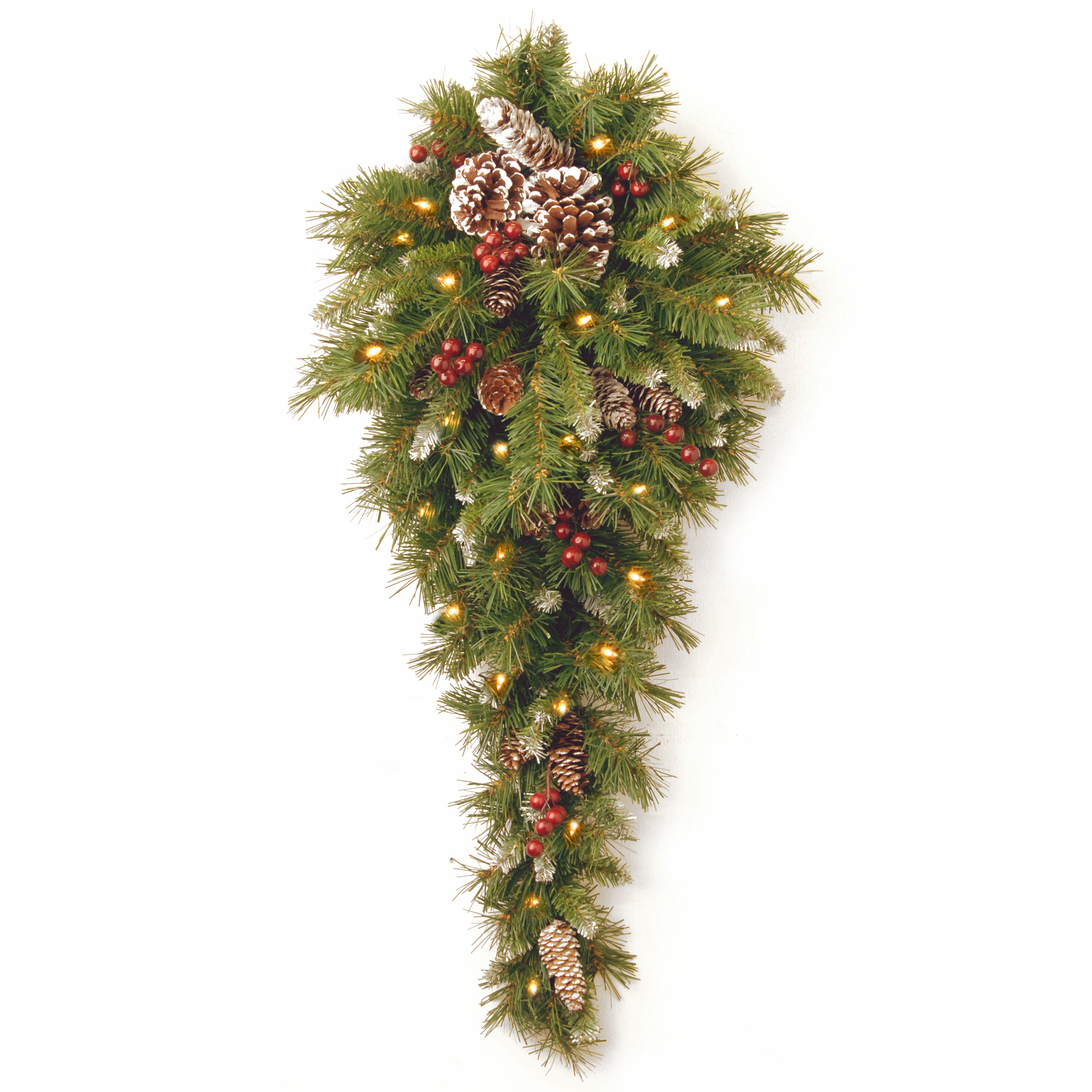 3 foot christmas tree with lights spruce tree 3 frosted berry teardrop with 50 warm white battery operated led lights national tree foot with