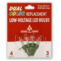 LED Replacement blister Bulbs - 4 Pack / Dual Color