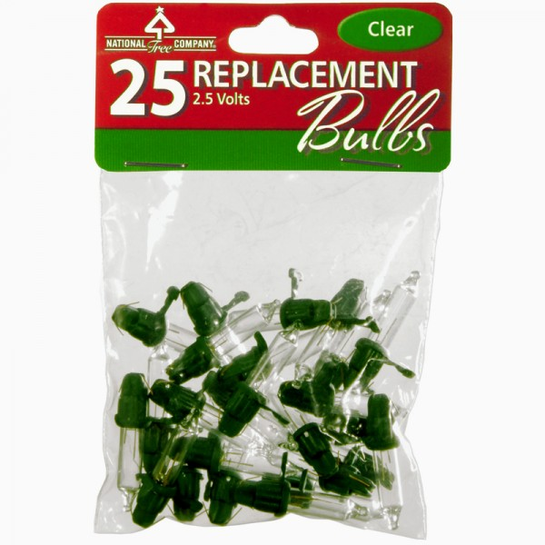- Replacement Bulbs - 25 Pack / Clear - National Tree Parts Store